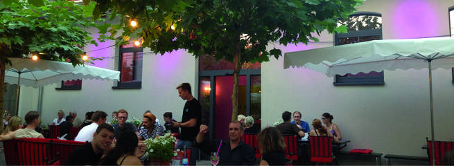 Fünfschilling Terrase Abends