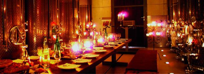 Fünfschilling Veranstaltungraum mit Kerzen