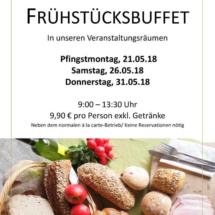Frühstücksbuffet Mai 2018